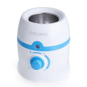Baby Bottle Warmer with Stainless Steel Warming Chamber and Bonus Gifts, Handy Temperature Control, Easy to Clean