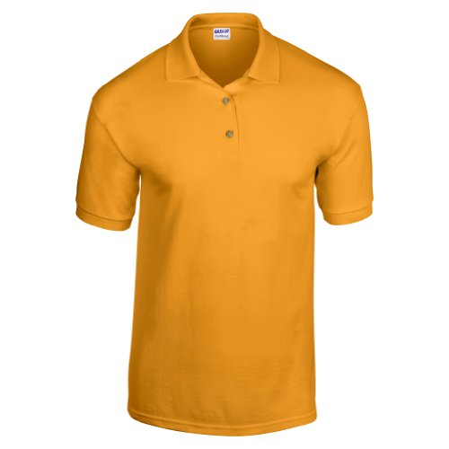Gildan Adult DryBlend Jersey Short Sleeve Polo Shirt (XL) (Gold) Adult Jersey Golf Shirt