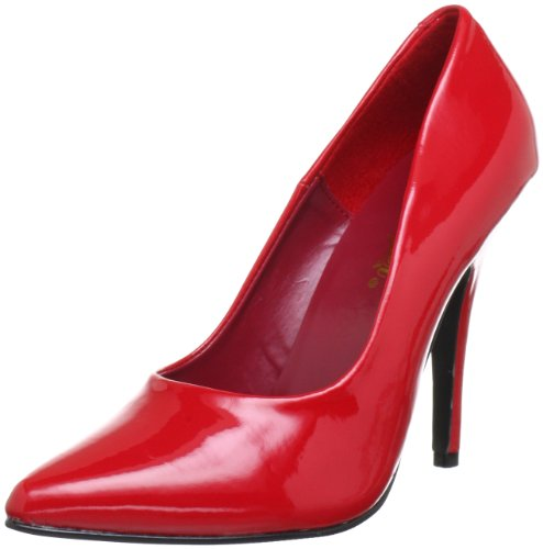 Pleaser Women's Seduce-420 Pump,Red Patent,9 M ()