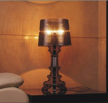 Creative Ghost Shadow Modern Fashion Kartell Bourgie Table Desk Lamp Acrylic Reading Lights In Black