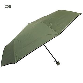 HAN-NMC PARAGUAS paraguas plegable para hombres y mujeres,verde militar