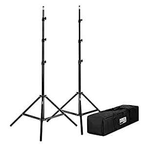 "Fovitec  StudioPRO - 2x 7'6"" Classic Light Stand Kit - [Classic][For Photo and Video][Includes Carrying Bag]"