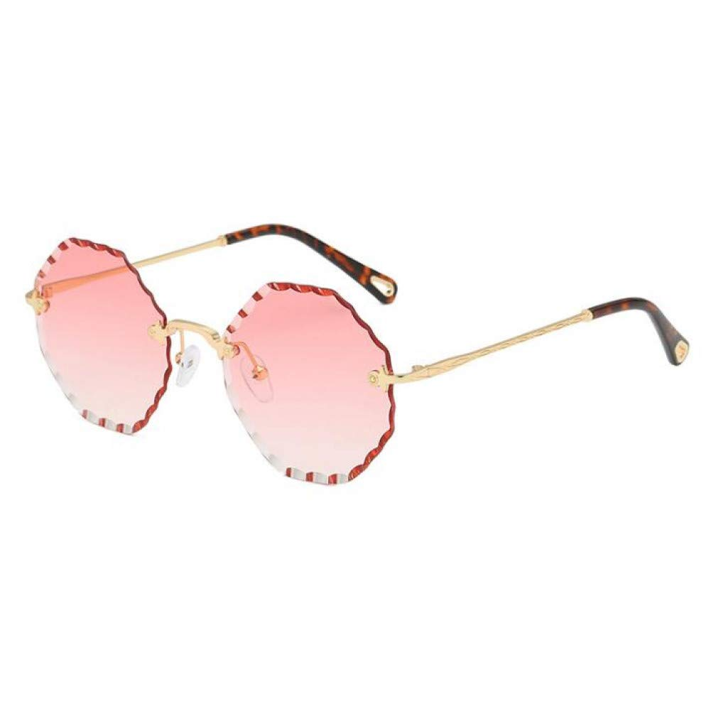 KCJKXC Gafas De Sol Sin Montura De Color Rojo Transparente ...