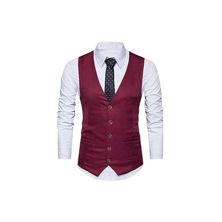 413ZBavxH8L. SS768  - REBAV Men's Polyester Waistcoat
