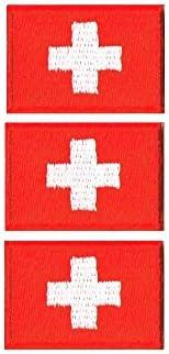 スイス国旗ワッペン エンブレム SS-3枚セット