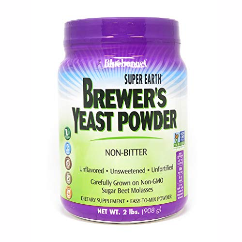 Yeast Dry Brewers (Bluebonnet Nutrition Super Earth Brewer's Yeast Powder, 2 pound)