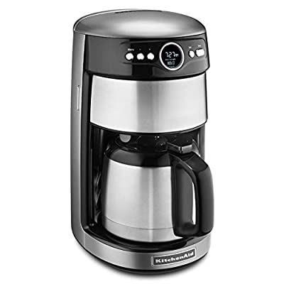 KitchenAid KCM1203CU 12-Cup Thermal Carafe Coffee Maker - Contour Silver