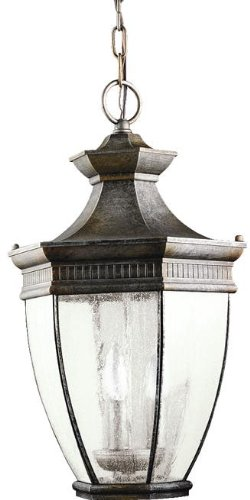 (Kichler 9371TZ Warrington Outdoor Pendant 3-Light, Tannery)