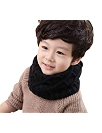 Unisex Baby Kids Toddler Boys Girls Hot Fashion Thick Knitted Winter Warm Infinity Scarf Warmer Winter Knit Scarf O Ring Neck Scarf Wrap Scarves