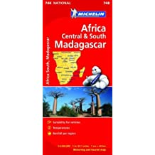 Africa Cental & South, Madagascar - Michelin National Map 746