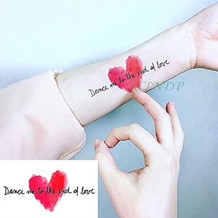 5pcs Tatuaje Impermeable Etiqueta Danza Conmigo hasta el Final del ...