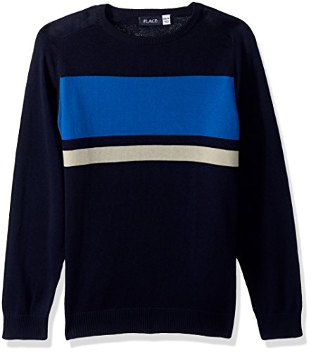 The Children's Place Big Boys' Raglan Crew Sweater, Tidal, XS (4) ()