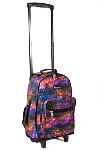 - Everest Wheeled Pattern Backpack, Galaxy, One Size