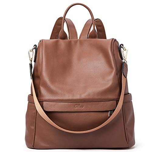 Backpack Purse Tote - Women Backpack Purse Fashion Leather Large Travel Bag Ladies Shoulder Bags Brown