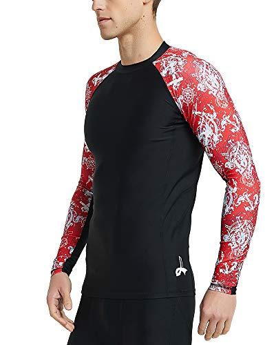 - LAFROI Men's Long Sleeve UPF 50+ Baselayer Skins Compression Rash Guard (Steering, XXXL)