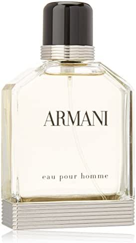Eau Pour Homme by Giorgio Armani   Eau de Toilette Spray   Fragrance for Men   An Elegant, Timeless Scent with Notes of Bergamot, Coriander, and Vetiver   100 mL / 3.4 fl oz
