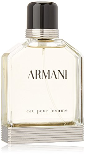 Homme Mens Discount Fragrance - Eau Pour Homme by Giorgio Armani | Eau de Toilette Spray | Fragrance for Men | An Elegant, Timeless Scent with Notes of Bergamot, Coriander, and Vetiver | 100 mL / 3.4 fl oz