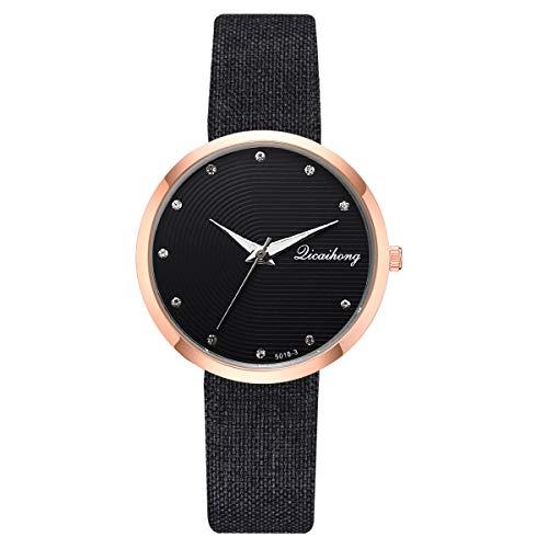 (LUCAMORE Women Watches Leather Band Elegant Quartz Watches Girls Ladies Wristwatch)