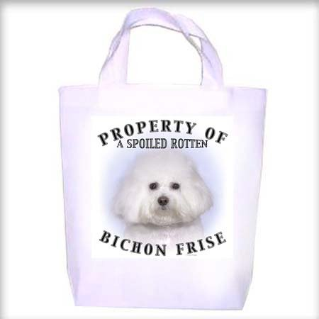 Bichon Frise Property Shopping - Dog Toy - Tote Bag