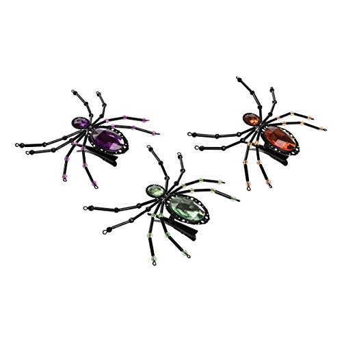 GALLERIE II Jeweled Spider Hair Halloween Clip A/3]()