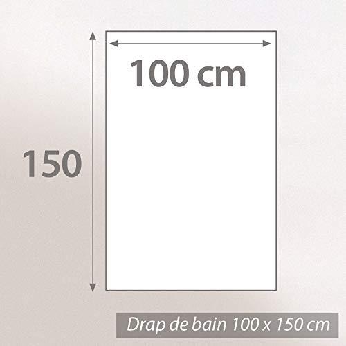 Linnea Drap de Bain 100x150 cm Royal Cresent Blanc Cr/ème 650 g//m2