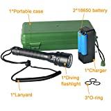 DOTSOG Diving Flashlight,3600 Lumens Underwater