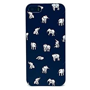 Jaholan Lovely Couple Elephant Pattern Hard Plastic Case Skin Cover for Apple Iphone 5S