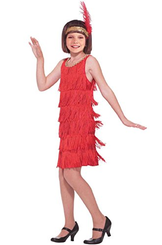 Toddler Sweet Red Hood Girls Costumes (Red Fashion Flapper Child Gatsby Costume (L))