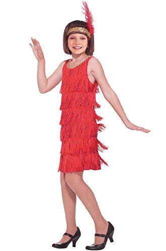 Red Fashion Flapper Child Gatsby Costume (L)
