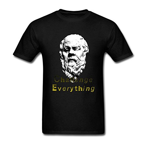 SLJD Men's Socrates Greek Philosophy Design T Shirt