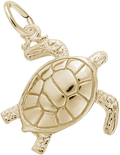 Rembrandt Sea Turtle Charm - Metal - 10K Yellow -