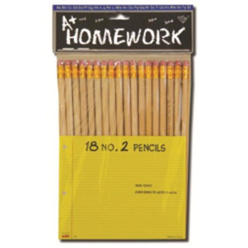 Pencils - Natural Color Barrel - No.2 - 18 Count 48 pcs sku# 1192982MA by DDI