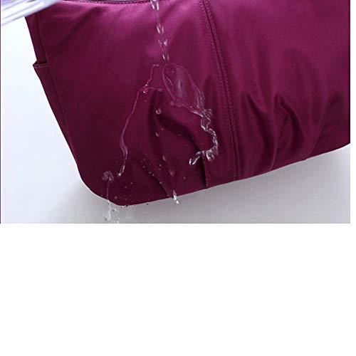 Bolso Bandolera Resistente al Agua para Mujeres Niñas o Mujeres Adolescentes, Ligero Gran Capacidad y Bolsillos Muti para Travel (Negro puro)
