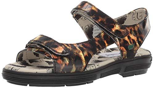 Golfstream Women's Two Strap Sandal Sport, Patent Leopard, 9 M ()
