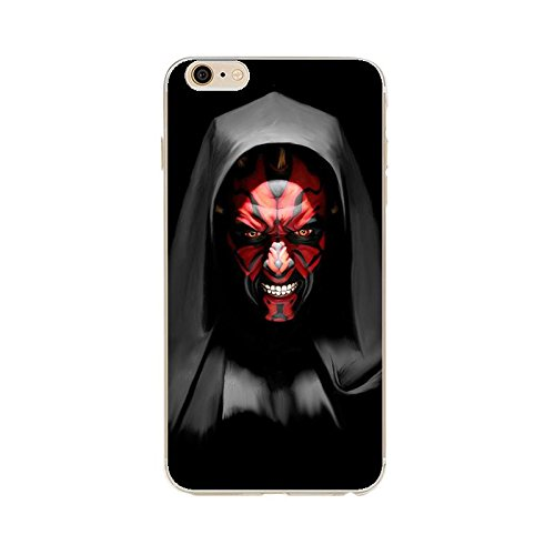 iPhone 6/6s Star Wars Silicone Phone Case / Gel Cover for Apple iPhone 6S 6 / Screen Protector & Cloth / iCHOOSE / Darth Maul -