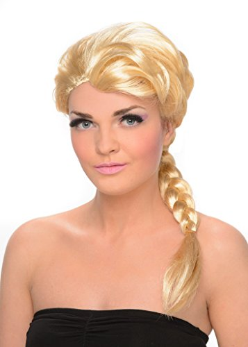 Ice Princess Costume For Adults (Ice Princess Wig - Braided Long Blonde Wig for Cosplay and Costume Dressup)