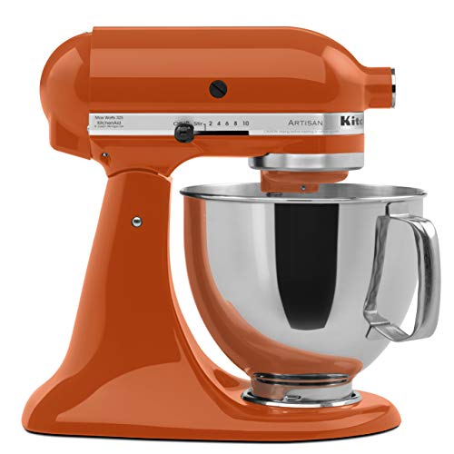 KitchenAid KSM150PSPN Artisan Series 5-Qt. Stand Mixer with Pouring Shield - Persimmon (Kitchenaid 5 Qt Artisan Mixer Best Price)