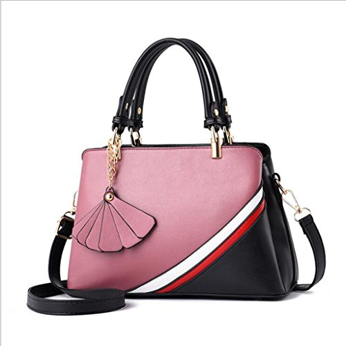 United diagonal color wild 29 ladies 19cm shoulder 12 package Europe size Women's handbag handbags Fashion handbag casual hit States and the FF Pink 8aAqwOWWn