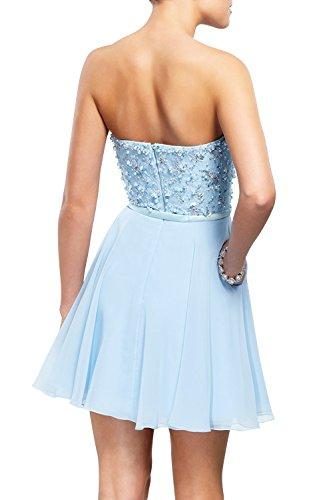 Kurzes Chiffon A Blau Brau Cocktailkleider Pailletten Festlichkleider Abendkleider mia Rock Linie Mini La Traegerlos Partykleider vBxqz6xw