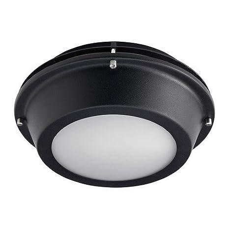 IKEA UPPLID - lámpara de techo/pared exterior de color negro ...