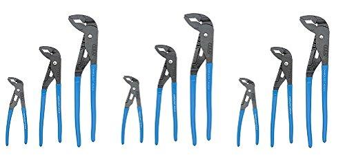 Channellock GLS-3 Griplock Plier 3-Piece Set : GL6, GL10, GL12 (3-(3-Piece Set))