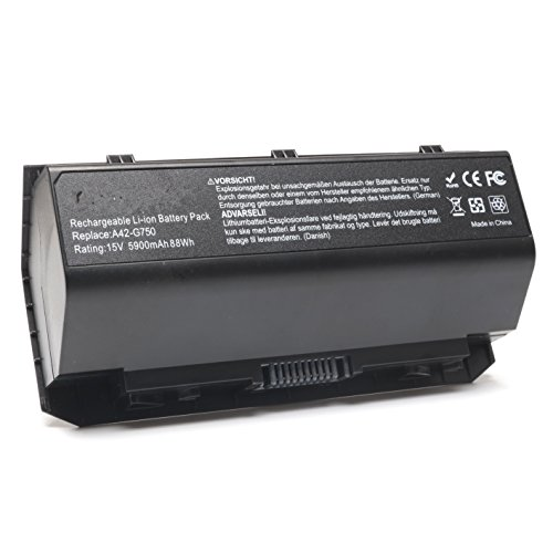 15V 5900mAh/88Wh New Replacement Asus A42-G750 Laptop Batter