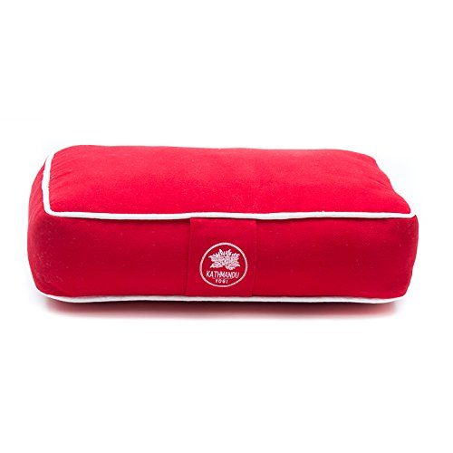 Kathmandu Yogi Solid Red Travel Meditation Cushion (Bhutanese Woven Cotton) - The Nomad Collection by ()