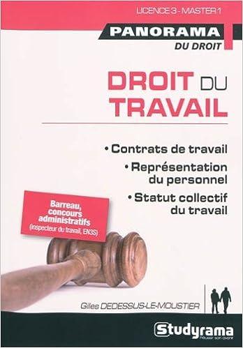 En ligne téléchargement gratuit Droit du travail : Contrats de travail, représentation du personnel, statut collectif du travail epub, pdf