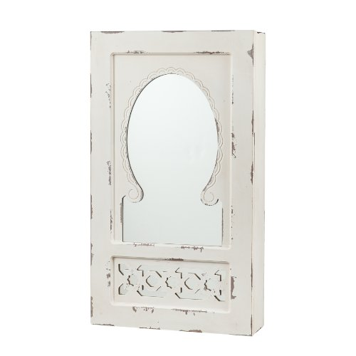 Southern Enterprises Gilmore Shabby Chic Wall Mount Jewelry Mirror