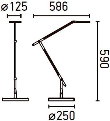 Lampe de bureau led 8w halo faro 55190