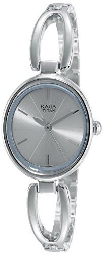 Titan Raga Viva Analog Women's Gold/Silver Metal/Brass/Leather, Jewellery Design, Bracelet Style, Designer, Quartz Glass, Water Resistant Wrist Watch