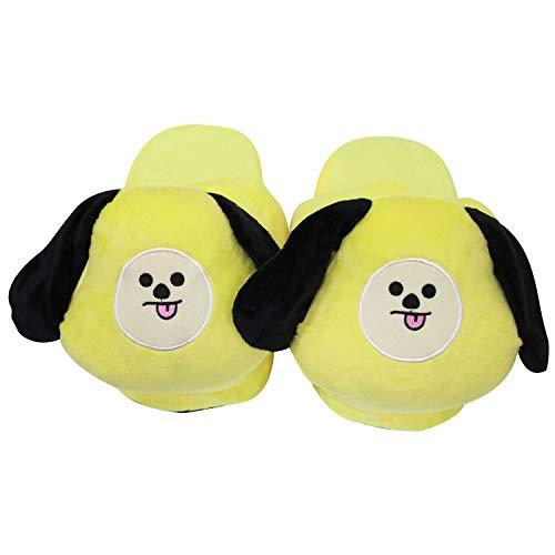 House Unisex Slippers Yellow Slippers Zoylink Warm On Slip Soft Cute Slippers TgIq6B
