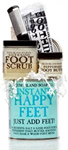All Natural Instant Happy Feet Pedicure Can Gift Set