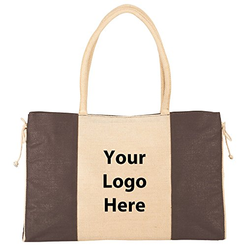 Resort Jute Tote - 60 Quantity - $7.50 Each - PROMOTIONAL PRODUCT / BULK / BRANDED with YOUR LOGO / CUSTOMIZED by Sunrise Identity